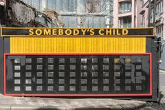 Minnesmärke för mördade barn i Dublin, Irland Royaltyfri Bild