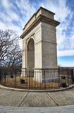 Minnesmärke för Rosedale bågekrig i Kansas City Royaltyfria Bilder