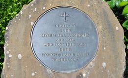Minnesmärke för Stockport luftkatastrof Arkivbilder