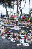 Minnesmärke för 14th det juli offret, Nice, Frankrike Fotografering för Bildbyråer