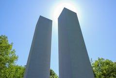 Minnesmärke för tvillingbröder 911 royaltyfria bilder