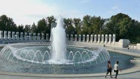 Minnesmärke för världskrig två, Washington DC, USA lager videofilmer