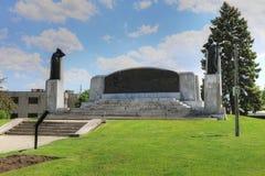 Minnesmärke i Brantford, Ontario, Kanada för Alexander Graham Bell arkivfoton