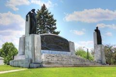 Minnesmärke i Brantford, Ontario, Kanada för Alexander Graham Bell arkivbilder