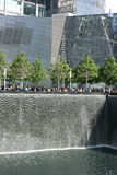 9/11 minnesmärke i New York Royaltyfria Bilder