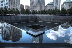 9/11 minnesmärke i New York Royaltyfri Foto