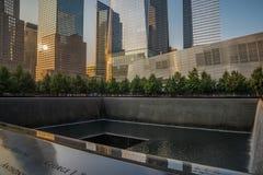 9-11 minnesmärke i NYC - ExplorationVacation netto Arkivfoto