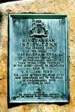 Minnesmärke i vita Clay Creek royaltyfri foto