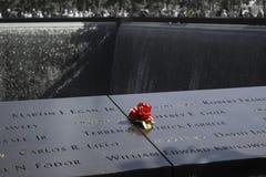 Minnesmärke 9/11 New York Arkivfoton