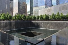 9/11 minnesmärke, New York Royaltyfri Bild