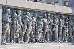 Minnesmärke på Burgas, Bulgarien fotografering för bildbyråer