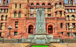 Minnesmärke på det gamla stadshuset av Toronto, Kanada arkivbild
