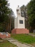 Minnesmärke på en broderlig grav i den Kaluga regionen av Ryssland Royaltyfri Foto