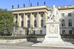 Minnesmärke till Alexander von Humboldt Royaltyfri Fotografi