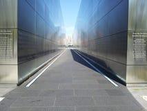 9/11/01 minnesmärke till borttappade NJ-invånare som tragisk dag Liberty State parkerar Arkivfoto