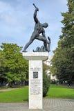 Minnesmärke till Raoul Wallenberg i Budapest, Ungern Arkivbild