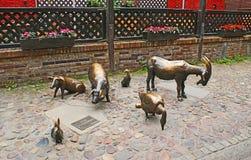 Minnesmärke till slaktade djur royaltyfri fotografi