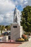 Minnesmärke till stupade soldater Panino Ryssland Arkivfoto