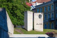 Minnesmärke till Vilde i Tallinn royaltyfria foton
