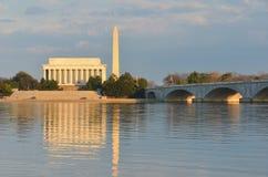 minnesmärke USA washington för abraham dc lincoln Arkivfoton