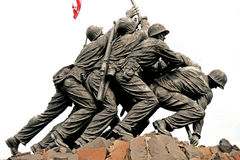 minnesmärke washington för dc Iwo Jima Royaltyfria Bilder