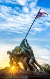 minnesmärke washington för dc Iwo Jima Fotografering för Bildbyråer