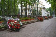 Minnesmärken av hjältarna av Sovjetunionenet Arkivbilder