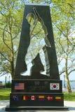 Minnesmärken för det koreanska kriget i batteri parkerar Royaltyfri Foto