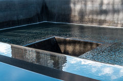 Minnesmärken för medborgareSept 11 på WTC-ground zeroplatsen fotografering för bildbyråer