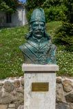 Minnesmärken till castleguards i slotten Szigliget i Ungern, 13 kan Arkivbild