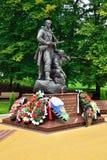 Minnesmärken till krigaren - spana. Victory Park Kaliningrad, Ryssland arkivbild