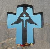Minnesmärken till offren av Holodomor 1932 -1933 år Arkivbild