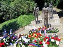 Minnesmärken till offren av kommunism, Petrin, Prague, tjeck royaltyfria bilder