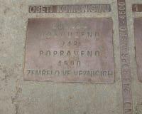 Minnesmärken till offren av kommunism, prague, Tjeckien royaltyfri bild