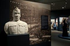 Minnesmärke av Henry Johnson, WWI-hjälte, som mottog slutligen medaljen av heder i 2015, institut av historia och konst, 2016 Royaltyfri Foto