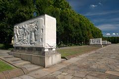 Minnesmärken av den andra världen kriger Arkivbild