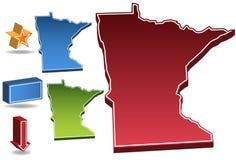 Minnesota 3D Stock Image