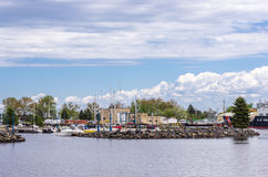 Minnesota Ave on Duluth Harbor Basin Royalty Free Stock Photos