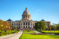 Minnesota capitol building in St. Paul, MN Royalty Free Stock Photo