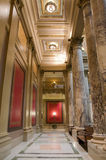 Minnesota Capitol Corridor. Interior of Minnesota State Capitol along corridor framed by columns and pilasters royalty free stock image