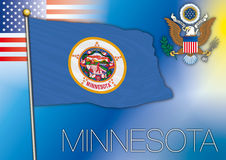 Minnesota flag, us state Royalty Free Stock Image
