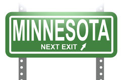 Minnesota green sign board isolated Royalty Free Stock Photography
