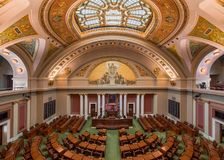 Minnesota House of Representatives. Chamber in the State Capitol at 75 Rev Dr Martin Luther King Jr Boulevard in St. Paul, Minnesota Royalty Free Stock Photography