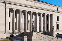 Minnesota Judicial Center Facade. Minnesota judicial center building facade ionic columns stairs and entrance former home of minnesota historical society royalty free stock image