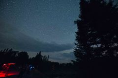 Minnesota Milky Way royalty free stock photography