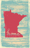 Minnesota nostalgic rustic vintage state vector sign. Rustic vintage style U.S. state poster in layered easy-editable vector format Royalty Free Stock Photo