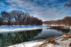 Minnesota River Wintertime Royalty Free Stock Photos