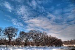Minnesota River Wintertime Royalty Free Stock Photos