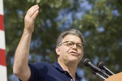 Minnesota Sen. Al Franken. Minnesota Democratic Sen. Al Franken speaking at Iowa Sen. Tom Harkin's annual steak fry on Sept. 13, 2009, in Indianola, Iowa royalty free stock photos