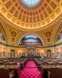 Minnesota Senate Chamber. In the State Capitol at 75 Rev Dr Martin Luther King Jr Boulevard in St. Paul, Minnesota royalty free stock photography